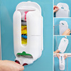 Home Useful Wall Mount Plastic Carrier Bag Storage Container Holder Organizer Recycle Box