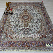 8*10ft qum rugs 100% silk oriental silk carpet large decoration area persian rug