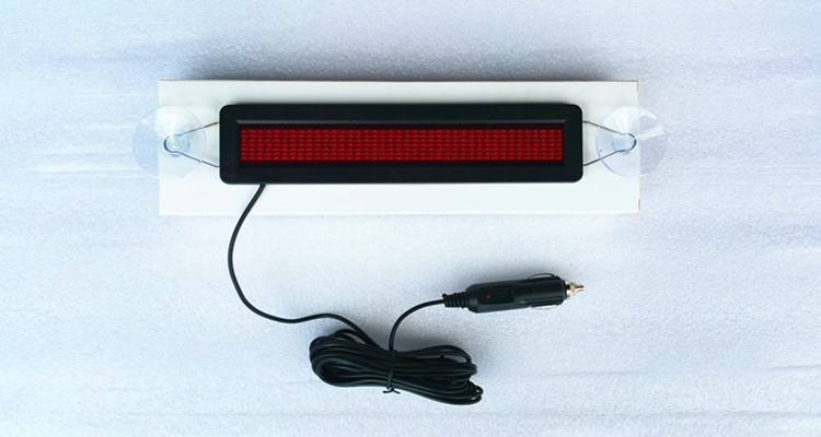 7x40 car mini bluetooth programmable moving messages led sign for car back glass display