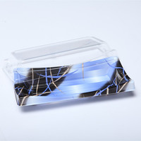 Disposable Plastic light blue sushi packing container (BF-20)