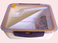 Walmart Audited Factory Promotional Plastic Lunch Box with folk