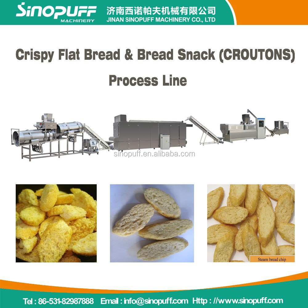 Sinopuff Hot Sell Bread Pan Snack Extruder