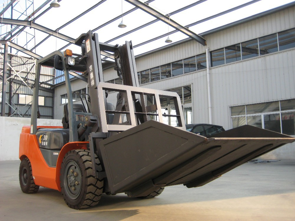 with attachment Hinged Bucket / Loading Bucket 3t Diesel Forklift Truck
