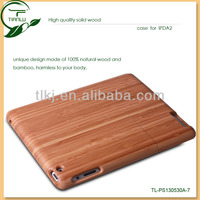 Detachable Hand Carved Wood Wooden Case for iPad 2