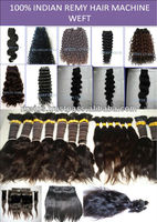 100% Indian Human Hair MACHINE MADE WEFT