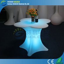 Glowing bar table for event/party/club led illuminated furniture