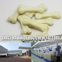 2015 Bestseller bleached dog chew bone chinese snack food freeze And Dog Application Soft