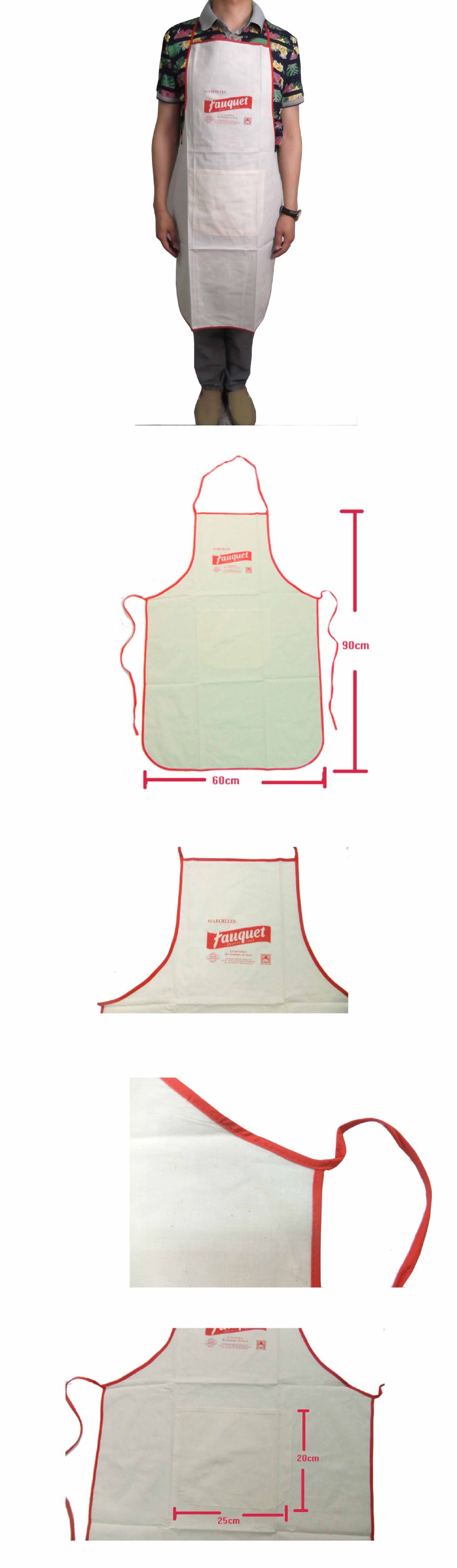 2017 cheap Wholesale promotional cotton kitchen bib apron for man and woman