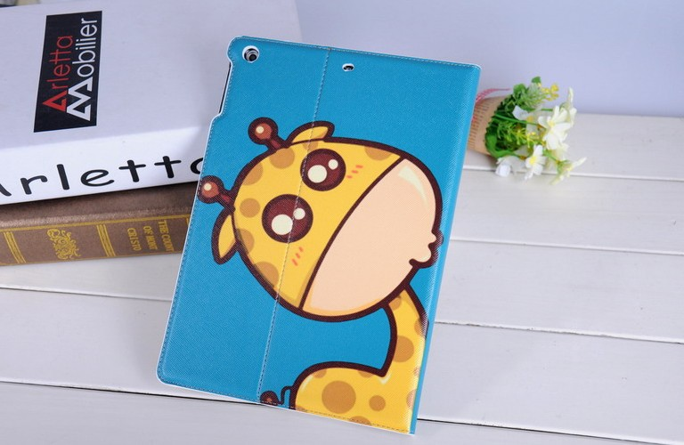 2014 Hot Sale Luxury PU Leather Animal Shape Pattern for Ipad Mini Case