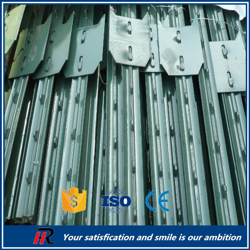 Direct factory hot dipped galvanized or bitumen used T fence post for sale