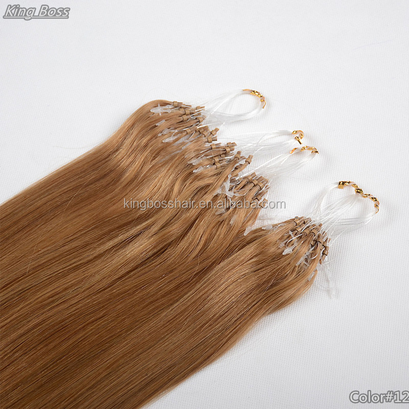 Romantic angel ombre micro loop ring hair extension, wholesale brazilian hair vendors for bead hair