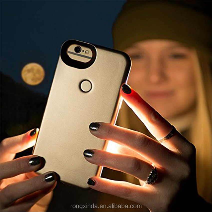 New Patent Product Hot Selling 2017 Amazon Led Selfie Flash Light Case For Iphone 6 7 TPU Luminous Case For iphone 7 plus