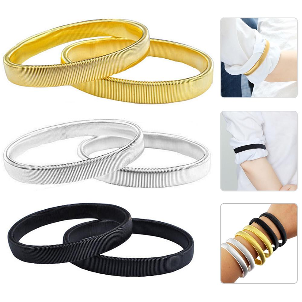 Sleeve Holder Shirt Arm Bands Garter Men Ladies Elasticated Metal Band