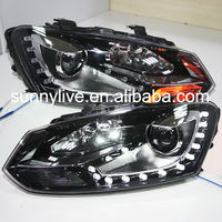 For VOLKSWAGEN Polo Mk5 Vento Cross polo LED Head Lamp DRL 2010-14 year Type DL