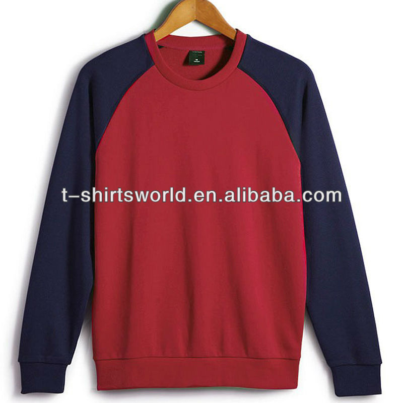 blank raglan sleeve sweat shirts for promotion