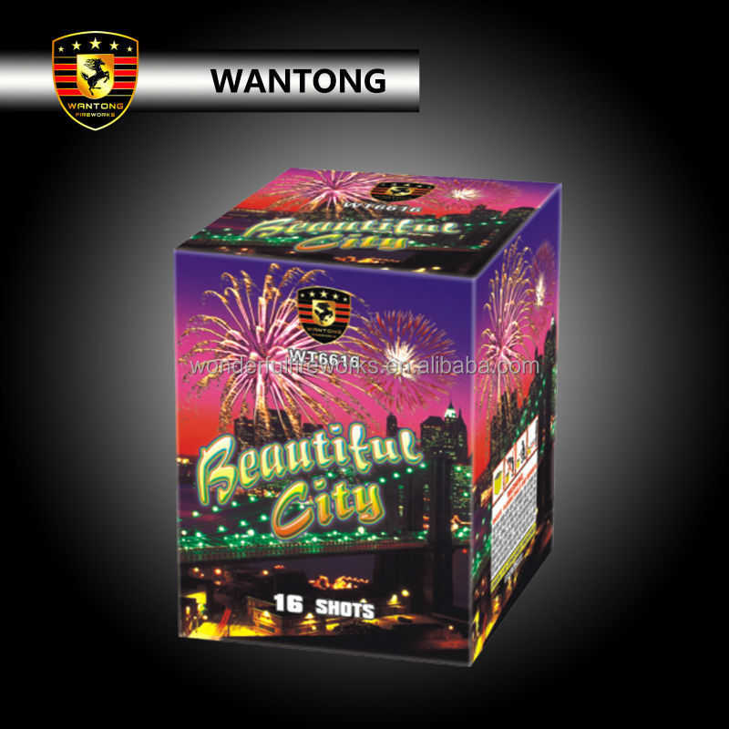 16 shots wholesale consumer display cake fireworks