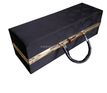 2015 Black Vinyl Paper Wrapped Wooden Wine Box