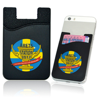 silicone card holder 3m 300lse sticker pouch for iphone