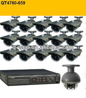 QT4760-659 DVR COMBO KIT home CCTV security system 16 CHANNEL H.264 NETWORK DVR - (CIF) with 16 pcs cameras