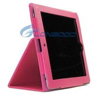 Folding PU leather case cover for ipad2 ipad3