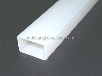 Hot selling oem white plastic 4 square pvc pipe polyester for White plastic water pipe