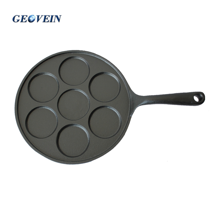 Kitchen Craft Cast Iron 7 Pcs Blini Pancake Making Fry Pan Buy