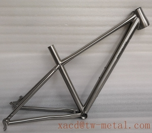 Custom titanium CYC bicycle frame XACD made ti cyclocross bike frame CYC bike with breeze dropouts and taper head tube