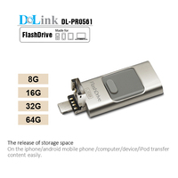 Phone U Disk 8g 16g 32g Otg USB Dual Disc Push-pull Computer Phone External Hard Drive Double Plug