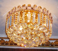 ceiling mounted crystal light fixtures VOL