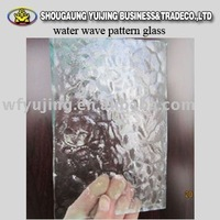water wave pattern glass