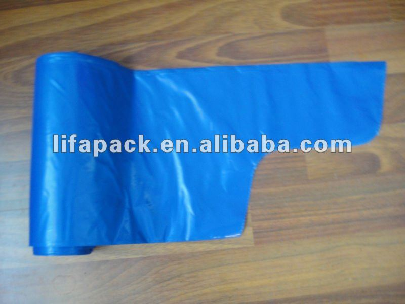 HDPE carry convenient wave top garbage bags