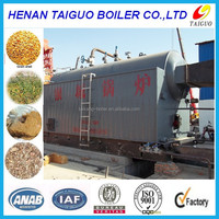 1-20t/h high efficiency horizontal chain grate industrial biomass burner steam boiler/generator for sale