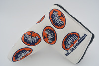 Custom Beautiful Embroider Leather Golf Putter Head Cover, Club Head Cover