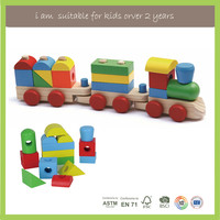 Family Game Top Selling Classic Wooden Stacking Train