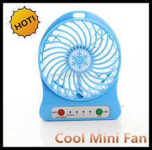 2016 Top Selling in ebay Standing usb mini table fan with rechargeable battery