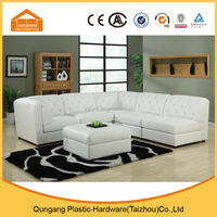 China manufacturer white leather sofa