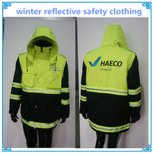 Heavy winter reflective safety clothing wholesale