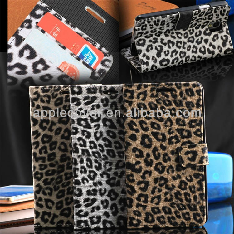 For note 3 Leopard Wallet casing ,for Samsung Galaxy note 3 phone cover