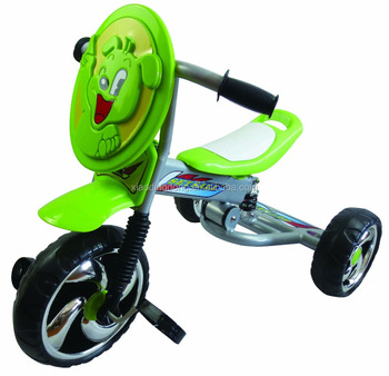 2016 Popular simple baby trike with suspension Small cartoon face children tricycle New Baby tricycle