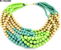 Wholesale Indian Jewelry Multi-Layer Acrylic Beads Necklace Agate Accessories