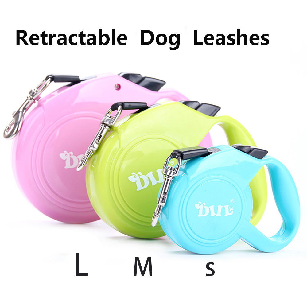 New Arrival 3M 4M 5M Retractable Dog Leash Hands Free Dog Lead Smart Running Dog Leash For Walking