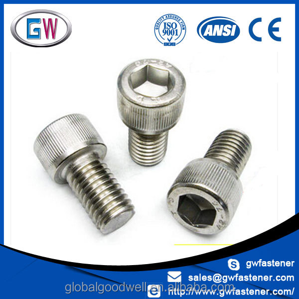 Stainless Steel hex socket knurled cap screw