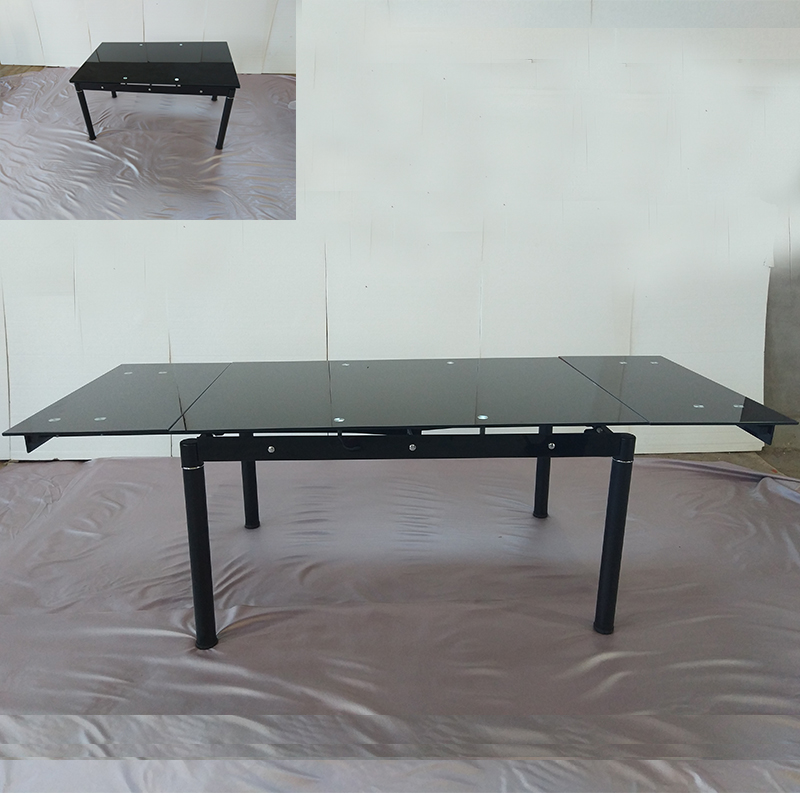 Modern extendable Glass Dining Table Expandable Folding Table High quality restaurant family dining table