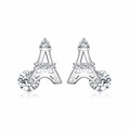 New Excellent Simple Earring Double Sided Design Stud Earrings Y20685-101000