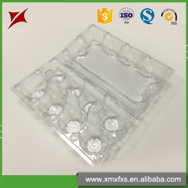 China manufacturers 8 holes packaging cartons plastic egg tray
