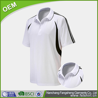 men's white collar solid color polo t shirt