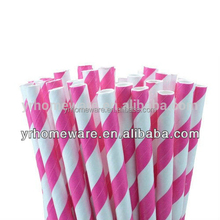 50 Paper Straws Striped Carnival Wedding Birthday Bridal Baby Shower