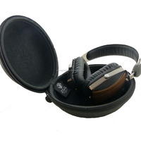 Black bluetooth handsfree headset HARD EVA Case - Clamshell/MESH Style with Zipper Enclosure, Inner Pocket