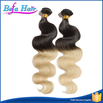 Excellent quality 100% Virgin Remy Wholesale brazilian ombre human hair extension