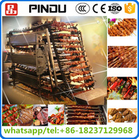 automatic electric chicken mutton beef meat kebab shawarma roasting rotating barbecue grill machine